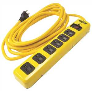 YELLOW JACKET 51380001 15 ft. 6-Outlet 1,440-Joule Surge Protector Power Strip