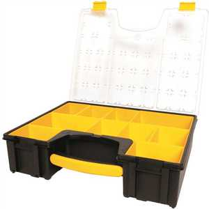 Stanley 014710R 10-Compartment Deep Pro Small Parts Organizer Yellow/black
