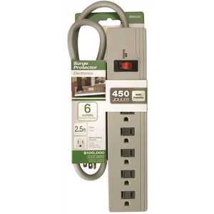 Southwire 041451 450-Joule 4-Foot Surge Protector with 6-Outlets and 2.5-Foot Cord IGNORE-No existing value