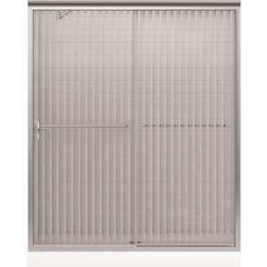 Kohler K-702206-G54-MX Fluence 59-5/8 in. x 70-5/16 in. Semi-Frameless Sliding Shower Door in Matte Nickel with Handle