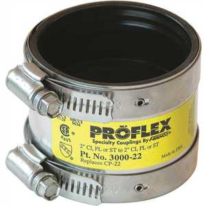 Fernco 3000-22 PROFLEX SHIELDED COUPLING, 2 IN