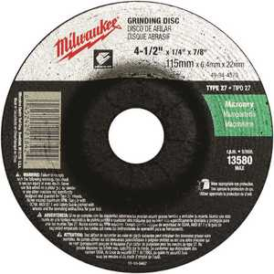 Milwaukee 49-94-4570 4-1/2 in. Type 27 Grinding Wheel