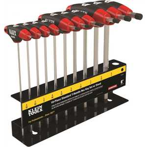 Klein Tools JTH610E 6 in. Journeyman SAE T-Handle Set with Stand