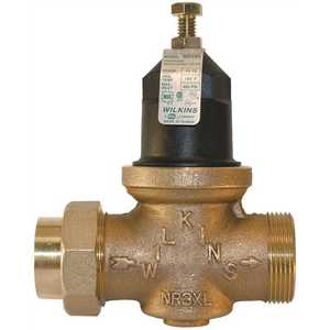 Zurn 34-NR3XLDUPEX 3/4 in. Lead-Free Bronze Water Pressure Reducing Valve with Double Union Male Barbed Connection Tailpiece