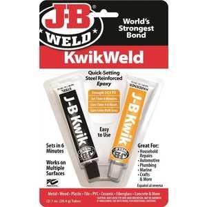 J-B Weld 8276 Two 1 oz. Twin Tube Kwikweld