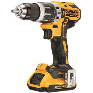 DEWALT DCD796D2 20-Volt MAX XR Lithium-Ion Cordless 1/2 in. Brushless Compact Hammer Drill with 2 Batteries 2 Ah, Charger and Case