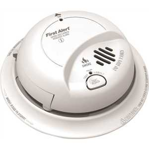 First Alert SC9120B Hardwired Interconnected Smoke and CO Alarm with Battery Backup White