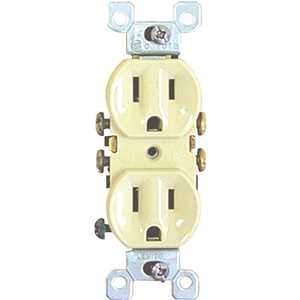 Preferred Industries 611126 DUPLEX RECEPTACLE, 15 AMPS, 125 VOLTS, IVORY