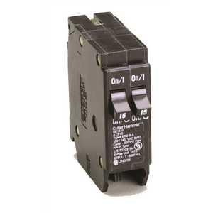 Eaton BR1515 BR 2-15 Amp Single Pole Tandem Non-CTL Circuit Breaker