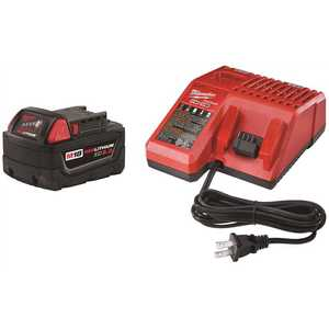 Milwaukee 48-59-1850 M18 18-Volt Lithium-Ion XC Starter Kit with (1) 5.0Ah Battery and Charger