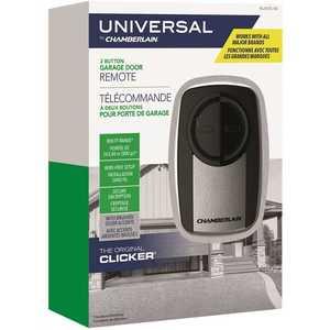 Chamberlain KLIK3U-SS Universal Clicker Stainless Steel Garage Door Remote Control