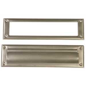 Gibraltar Mailboxes MS00SN03 Satin Nickel Steel Door Mail Slot