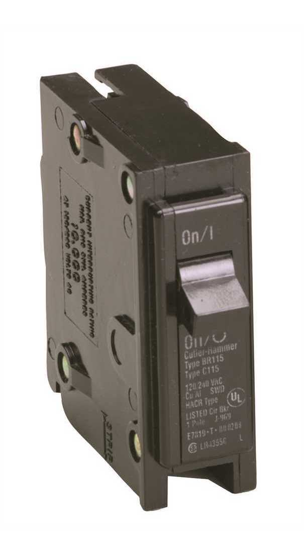 1 Pole 15 Amp 120//240 VAC Circuit Breaker NEW! westinghouse br115