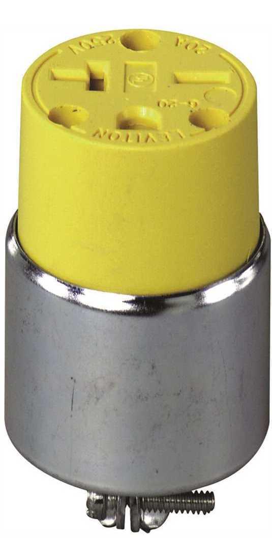 Leviton 515PR 12 Pack Rubber Back 3Wire 2 Pole Straight Blade Ground Plug