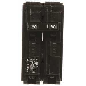 Siemens BQD260 60 Amp Double-Pole Type BQD Bolt-On Circuit Breaker Black
