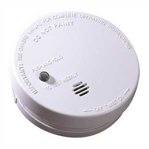 Battery Operated Ionization Smoke Alarm White