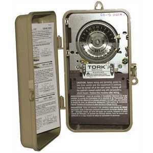 Tork 1101B-P 40 Amp 24-Hour Indoor/Outdoor Mechanical Time Switch for Same Time Every Day