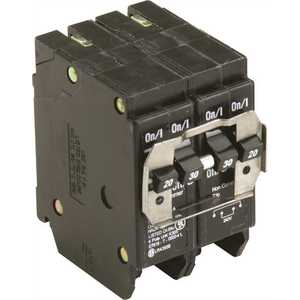 Eaton BQC220230 BR 1-20 Amp 2 Pole and 1-30 Amp 2 Pole BQC (Common Trip) Quad Circuit Breaker