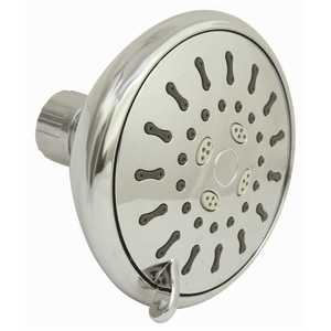 Premier 2492992 3-Spray 4 in. Single Wall Mount Low Flow Fixed Adjustable Shower Head in Chrome