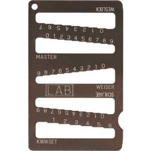 LAB SECURITY LKG001 UNIVERSAL KEY GAUGE KWIK,WEISER,SCHLAGE Gray