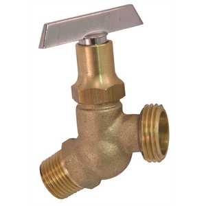 Proplus 262136 Brass 3/4 in. MIP x MIP Hose Bibb No Kink Loose Key