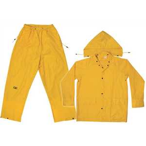 CLC Flex Grip R102L Unisex Large Yellow Polyester Rain Suit