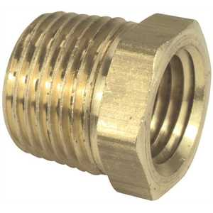 Sioux Chief 930-15100201 1/4 in. x 1/8 in. Lead-Free Brass MIP x FIP Hex Bushing