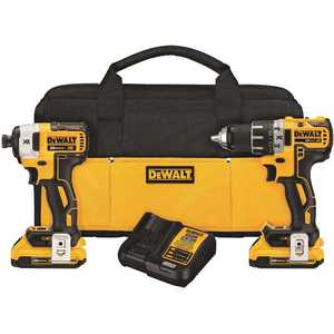 DEWALT DCK283D2 20-Volt MAX XR Lithium-Ion Cordless Brushless Drill/Impact Combo Kit (2-Tool) with (2) Batteries 2Ah, Charger and Bag