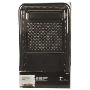 PRIVATE BRAND UNBRANDED RM 007 7 in. Plastic Paint Roller Tray Black