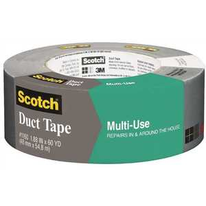 3M 2979 1.88 in. x 60 yds. x 7.0 mil. Contractor Grade Multi-Use Duct Tape Silver