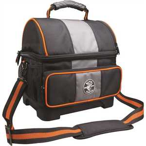 Klein Tools 55601 12 Qt. Soft Sided Jobsite Lunch Cooler Black, Gray, Orange