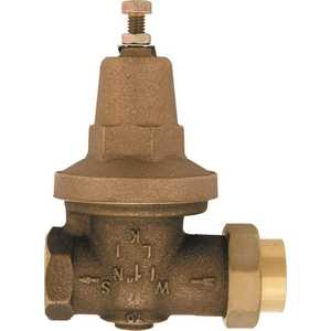 Zurn-Wilkins 1-70XLDUC 1 in. Lead-Free Bronze Water Pressure Reducing Valve with Double Union Female Copper Sweat
