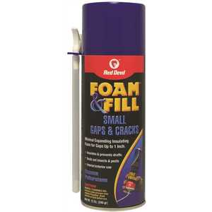 Red Devil 0913 FOAM & FILL MINIMAL EXPANDING POLYURETHANE SEALANT, 12 FL. OZ beige/bisque