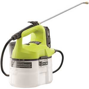 RYOBI P2810 ONE+ 18-Volt Lithium-Ion Cordless Chemical Sprayer - 1.3 Ah Battery and Charger Included