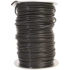 Southwire 11595601 500 ft. 10 Black Solid CU THHN Wire