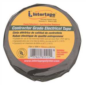 Intertape Polymer 607 CONTRACTOR GRADE PROFESSIONAL PVC ALL-WEATHER ELECTRICAL TAPE 3/4 IN. X 22 YD