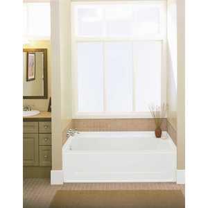 All Pro 5 ft. Left Drain Rectangular Alcove Bathtub in White
