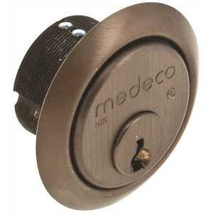 "Medeco Security Locks 10-0100-624-Z-02-KA2 HIGH SECURITY MORTISE CYLINDER 1"" COMMERCIAL KEYWAY DURO"