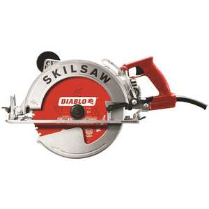 SKILSAW SPT70WM-22 15 Amp Corded Electric 10-1/4 in. Magnesium SAWSQUATCH Worm Drive Circular Saw with 40-Tooth Diablo Carbide Blade