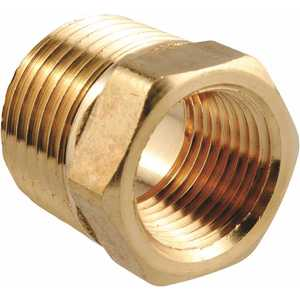 Sioux Chief 930-15161001 3/8 in. x 1/4 in. Brass MIP x FIP Hex Bushing