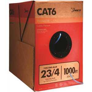 Southwire 56918049 1,000 ft. Blue 23/4 Solid CU CAT6 CMP (Plenum) Data Cable
