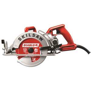 SKILSAW SPT77WM-22 SKILSAW 15 Amp Corded Electric 7-1/4 in. Magnesium Worm Drive Circular Saw with 24-Tooth Carbide Tipped Diablo Blade