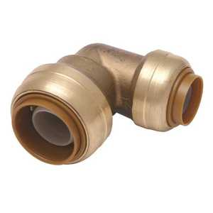 SharkBite U248LF 1/2 in. Brass 90-Degree Push-to-Connect Elbow