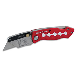 Great Neck Saw GNS58113 Sheffield Lockback Knife, 1 Utility Blade, Red