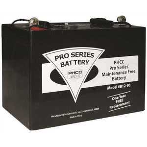 Pro Series Pumps B12-90 PHCC PRO SERIES (GLENTRONICS) B12-90 MAINTENANCE FREE (AGM) STANDBY BATTERY