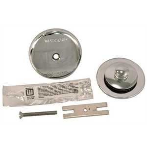 Watco 48400-CP NuFit Lift and Turn Bathtub Stopper with One Hole Overflow and Silicone Kit in Chrome Plated