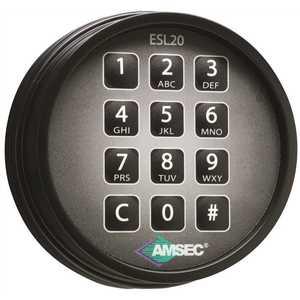 AMSEC 0615786 ESL20XL ELECTRONIC LOCK RETRO FIT KIT BL, Black