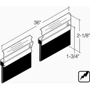 Combo Aluminum Products 210A-36 BK EXTRA TALL DOOR SWEEP Black