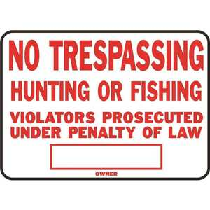 HY-KO PRODUCTS SS-5 10 in. x 14 in. Aluminum No Trespassing Sign Red