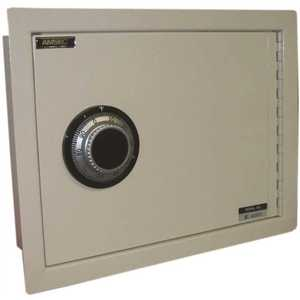 AMSEC WS1014 WALL SAFE WITH U.L. GROUP 2 KEY CHANGEABLE COMBINATION beige
